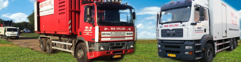Horizontaal gestuurde boringen vrachtwagens logistiek & equipment